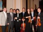 alcuni musicisti della Windsor Symphony Orchestra con Francesco Marino e Giovanni Valle
