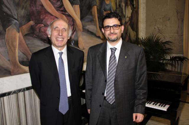 il pianista Bruno Canino ed il compositore Francesco Marino