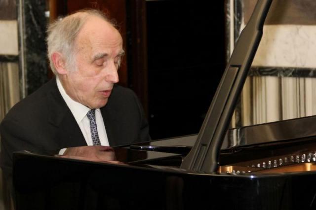 """Il grande pianista Bruno Canino esegue """"Percorsi"""" del compositore Francesco Marino"""